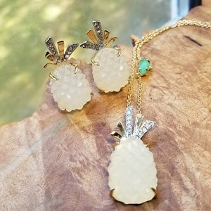 Alexis Bittar lucite pineapple necklace